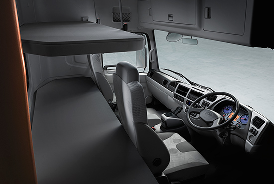 UD Trucks New Quester flexible cab layout
