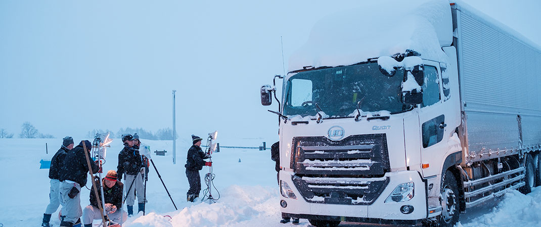 QUON-undergoes-extreme-cold-weather-road-test-in-Hokkaido-Japan