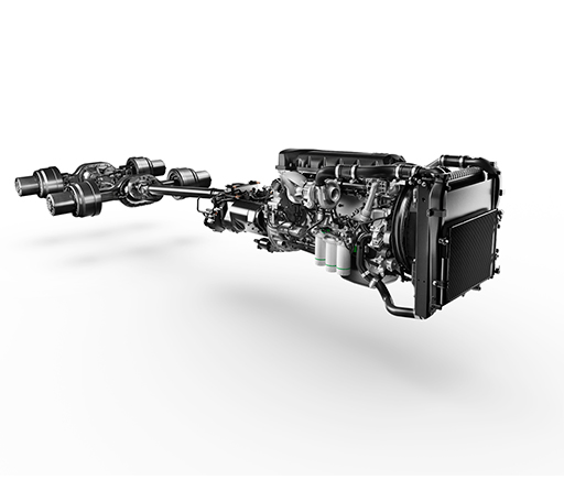 UD Trucks Quester powertrain