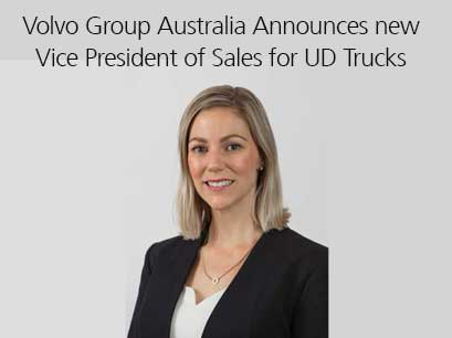 Volvo Group Australia Announces new Vice President of Sales for UD Trucks